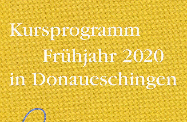 Kursprogramm Frühjahr 2020